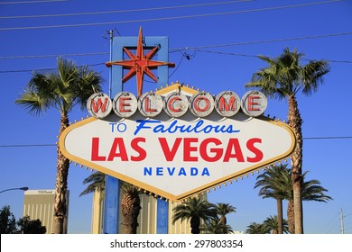 Sign of the Welcome to Fabulous Las Vegas,Nevada.