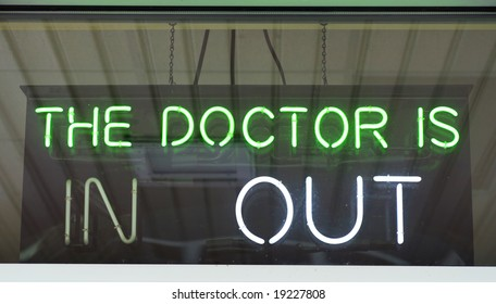 Sign in window of doctor's practice