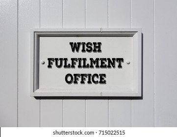 Sign of the wish fulfilment office