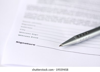 sign your contract