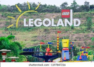 Signage of the Legoland Resort, Park and Water Park, Johor Bahru, Malaysia, October 4 2018