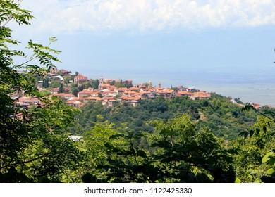 Signagi Georgia - May 2018: Beautiful city view