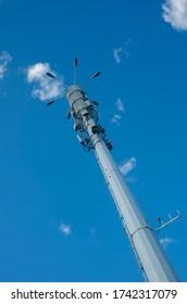Signal base station under blue sky