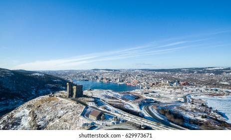 Signal Hill St John's Newfoundland Aerial View