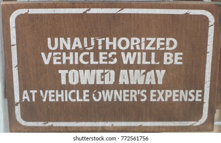 Signboard to renind vehicle owner