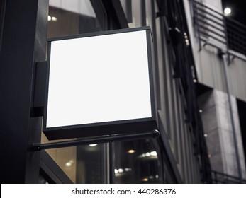 Signboard shop Mock up square shape Shop Front display