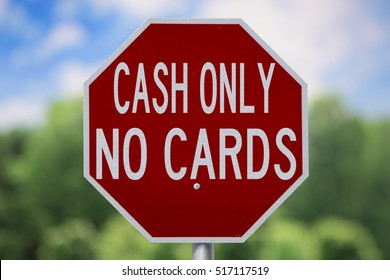 Sign-Cash Only No Cards