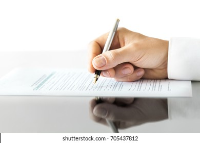 Signing.