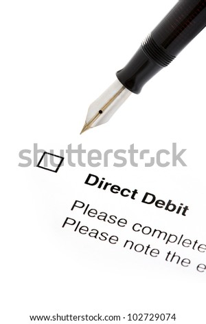 Signing Direct Debit Agreement Form Isolated Stock Photo Edit Now
