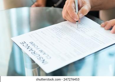 Signing insurance Claim form
