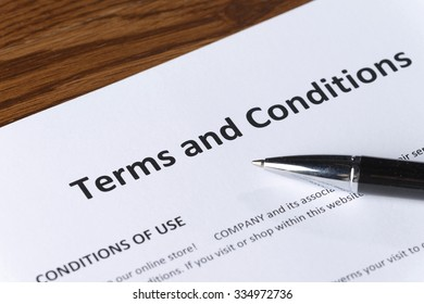 signing terms and conditions document