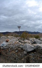 signpost in the Cottonwood Canyon, 4wd drive in the Death Valley National park