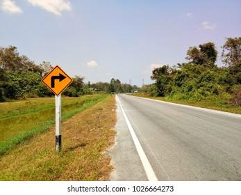 Signpost isoled background