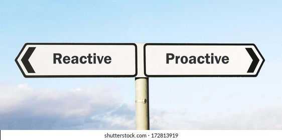 Signpost with Reactive or Proactive as direction choices