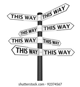 Signpost sending you to every direction