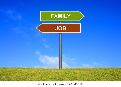 Signpost is showing Job or family