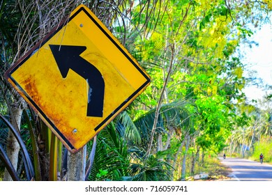 Signs along the curve