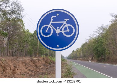 Signs for bicycle lanes