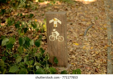 signs bicycle in park