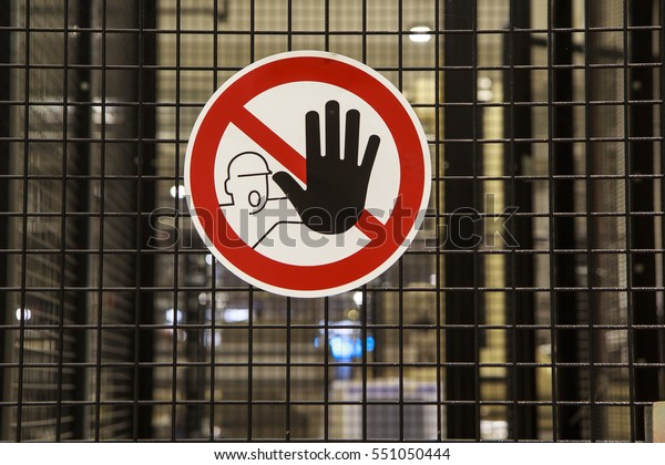 Signs do not touch authorized personnel only
