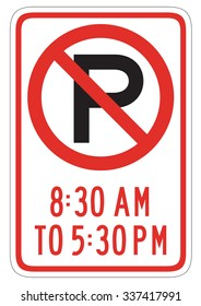 Signs: No Parking Any Time Street Sign