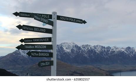 Signs on queenstown new zeland