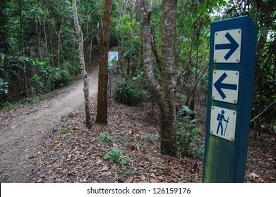 Signs on walking track