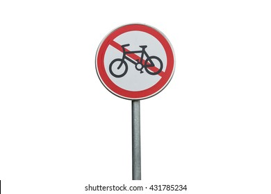 Signs prohibiting bicycles