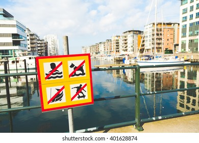 signs of prohibitions on bridge