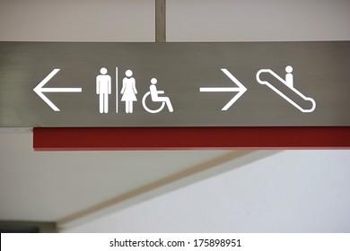 Signs at public entrance.