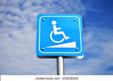 Signs, ramps for the disabled