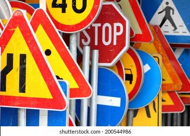 Signs, traffic