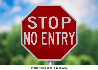 Sign-Stop No Entry