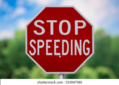 Sign-Stop Speeding