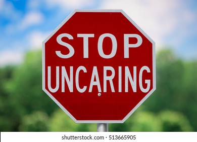 Sign-Stop Uncaring