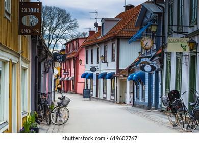 Sigtuna - April 08, 2017 : Old town of Sigtuna, Sweden