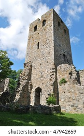 Sigtuna,  ruins of the medieval church St.Per, 13 century. Swede