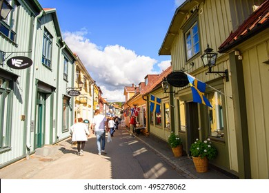 SIGTUNA, SWEDEN - SEP 17, 2016: Architecture of Sigtuna, the oldest town in Sweden, having been founded in 980.