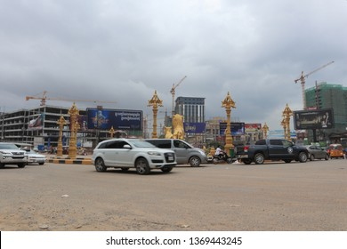 SIHANOUKVILLE, CAMBODIA. 2019 April 1st. Street View of Sihanoukville City