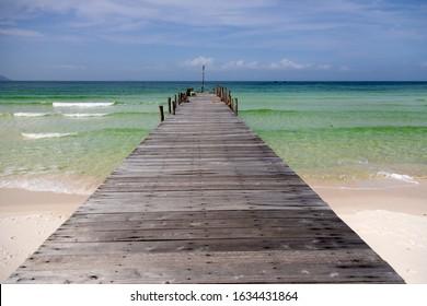 Sihanoukville province, Kingdon of Cambodia. July 28 2018: Sok San Beach, Koh Rong Island, Cambodia.