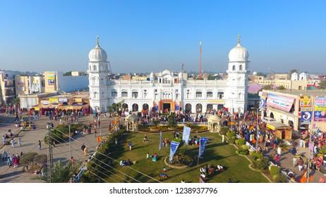 Sikh pilgrims attend a religious festival to celebrate the birth anniversary of their spiritual leader Baba Guru Nanak, at Nankana Sahib near Lahore, Pakistan,Nov. 23, 2018.