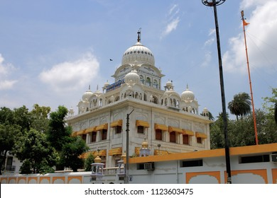 Sikh Religion Temple called Gurudwara. Name of Temple is Dumdama Sahib. Located in Nizamuddin, New Delhi, India.