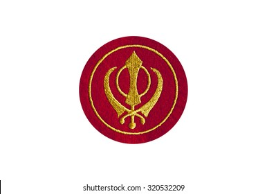 sikhism khanda embroidered badge