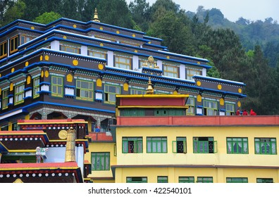 SIKKIM, INDIA - APRIL 14: Monks of Buddhist in Rumtek Monastery on April 14, 2016 in Sikkim, India. Rumtek Monastery is the most famous place in Gangtok, Sikkim.