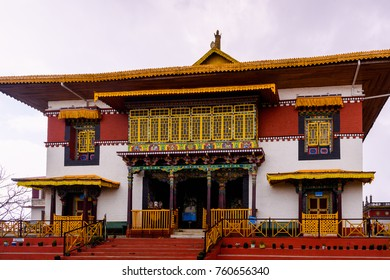 SIKKIM, INDIA - MAR 16, 2017:  Sangchen Pemayangtse monastery, Indian state of Sikkim