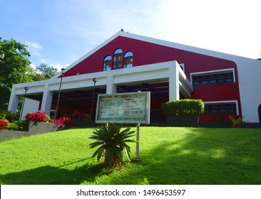 Silang, Cavite / Philippines - July 1, 2017: A Sabbath keeping church in the Adventist University of the Philippines on a Saturday morning. This is an international house of worship.