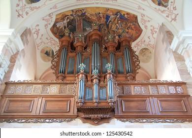 Silbermann organ of the Ebersmunster church in Alsace