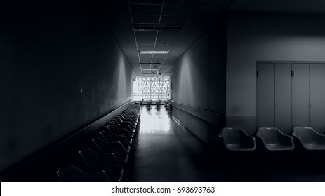the silence and emptiness of hospital