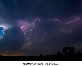 Silent lightning near Mulvane, Kansas, 15 June 2017
