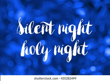 Silent night concept on background